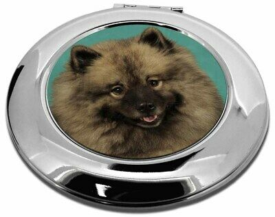 Keeshond Dog Make-Up Round Compact Mirror Christmas Gift, AD-KEE1CMR