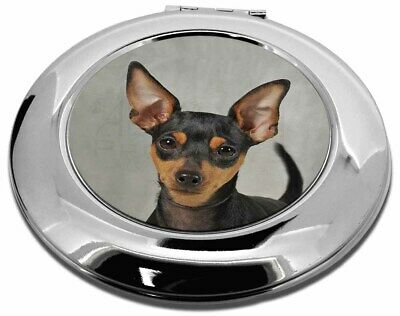 Miniature Pointer Dog Make-Up Round Compact Mirror Christmas Gift, AD-MP1CMR