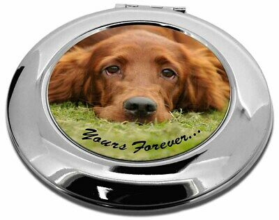 Red Setter Dog 'Yours Forever' Make-Up Round Compact Mirror Christma, AD-RS2yCMR