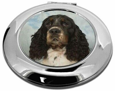 Springer Spaniel Dogs Make-Up Round Compact Mirror Christmas Gift, AD-SS11CMR