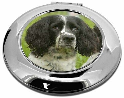 Springer Spaniel Dogs Make-Up Round Compact Mirror Christmas Gift, AD-SS3CMR