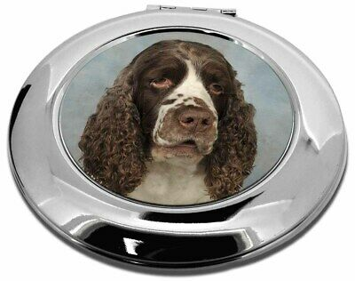 Springer Spaniel Dog Make-Up Round Compact Mirror Christmas Gift, AD-SS9CMR