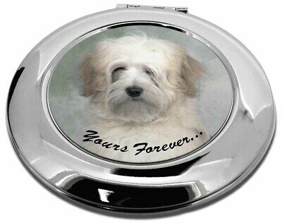 Tibetan Terrier 'Yours Forever' Make-Up Round Compact Mirror Christm, AD-TT1yCMR