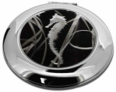Seahorse Make-Up Round Compact Mirror Christmas Gift, AF-24CMR