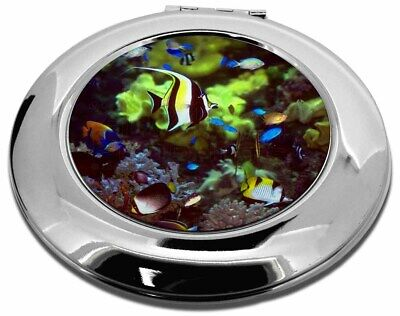 Tropical Fish Make-Up Round Compact Mirror Christmas Gift, AF-T40CMR