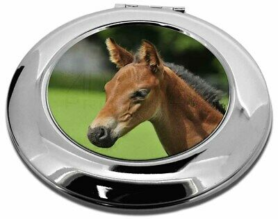 Pretty Foal Horse Make-Up Round Compact Mirror Christmas Gift, AH-10CMR