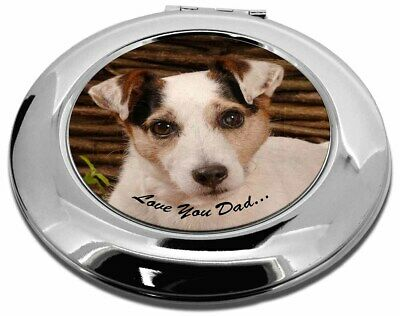 Jack Russell Dog 'Love You Dad' Make-Up Round Compact Mirror Christm, DAD-176CMR