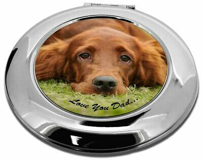Red Setter Dpg 'Love You Dad' Make-Up Round Compact Mirror Christmas , DAD-93CMR