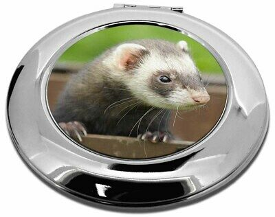 Ferret Print Make-Up Round Compact Mirror Christmas Gift, FER-2CMR
