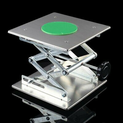"8"" Stainless steel Lifting Platforms Stand Rack Scissor Lab Jack 200mm*200mm"