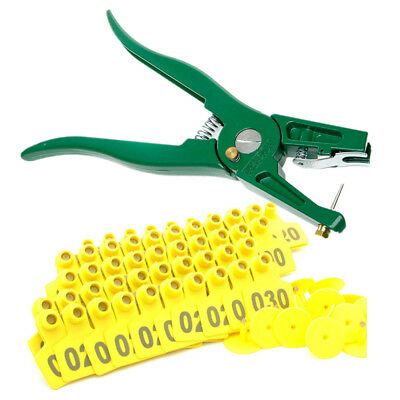 100 PCS Applicator Puncher Tagger Ear Tag Pig For Sheep Goat Hog Cattle Cow