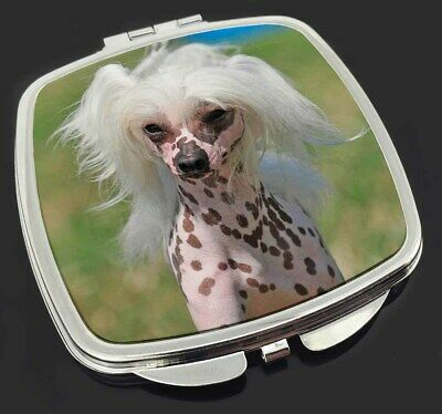Chinese Crested Dog Make-Up Compact Mirror Stocking Filler Gift, AD-CHC4CM