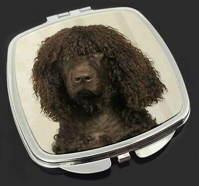 Irish Water Spaniel Dog Make-Up Compact Mirror Stocking Filler Gift, AD-IWSCM