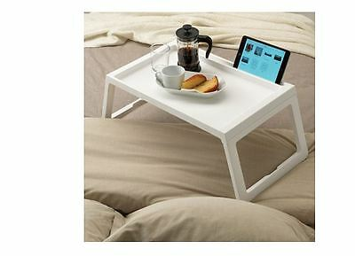 Ikea Plastic Food Serving Bed Tray Table w/ iPad Holder KLIPSK-NEW