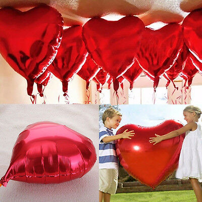 Love Heart Foil Helium Balloons Wedding Party Birthday Engagement Decor 10""
