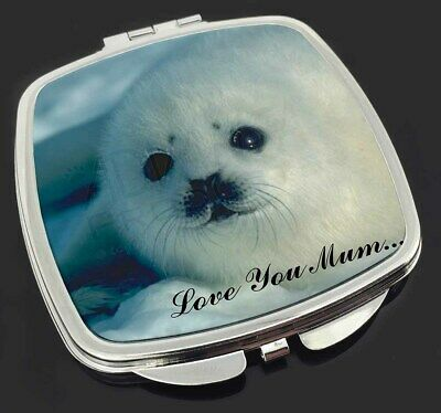 White Sea Lion 'Love You Mum' Make-Up Compact Mirror Stocking Fille, AF-S13lymCM