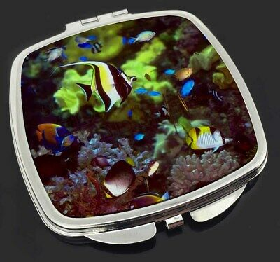 Tropical Fish Make-Up Compact Mirror Stocking Filler Gift, AF-T40CM