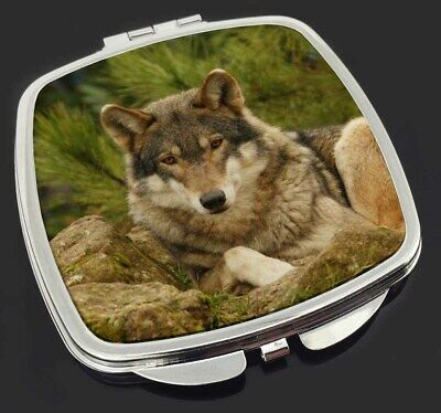 A Beautiful Wolf Make-Up Compact Mirror Stocking Filler Gift, AW-10CM