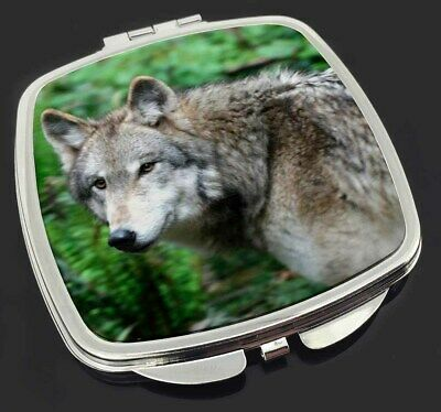 Grey Wolf Make-Up Compact Mirror Stocking Filler Gift, AW-2CM