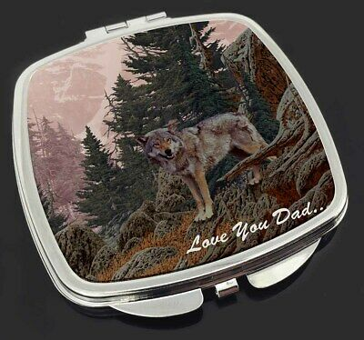 Mountain Wolf 'Love You Dad' Make-Up Compact Mirror Stocking Filler G, DAD-150CM