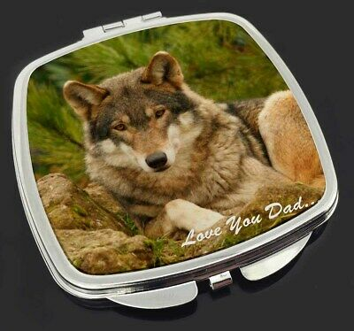 Wild Wolf 'Love You Dad' Make-Up Compact Mirror Stocking Filler Gift, DAD-152CM