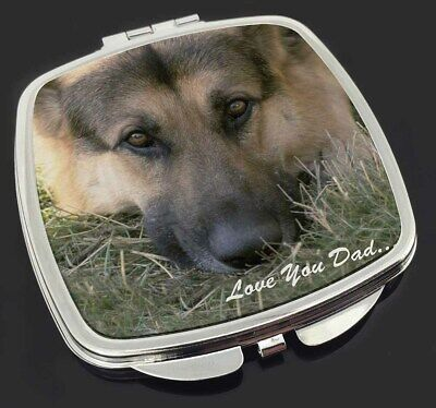 German Shepherd 'Love You Dad' Make-Up Compact Mirror Stocking Filler , DAD-34CM