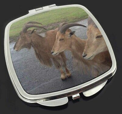 Three Cheeky Goats Make-Up Compact Mirror Stocking Filler Gift, GOAT-2CM