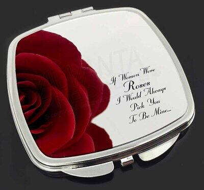 Rose-Wife, Girlfriend Love Sentiment Make-Up Compact Mirror Stocking , LOVE-R4CM
