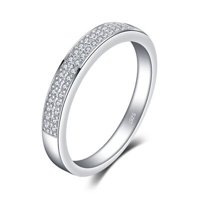 JewelryPalace Cubic Zirconia Anniversary Wedding Band Eternity Ring Channel Set