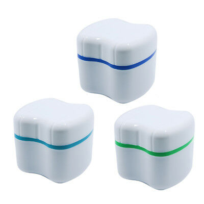 Denture False Teeth Box Rinsing Basket Container Bath Appliance Storage Case New