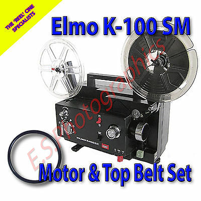 ELMO K-100 SM 8mm Cine Projector Drive Belts Set of 2