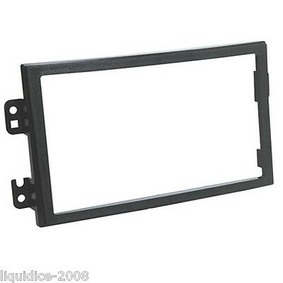 CT24NS19 NISSAN 350Z 2003 to 2005 BLACK DOUBLE DIN FASCIA FACIA ADAPTER FRAME