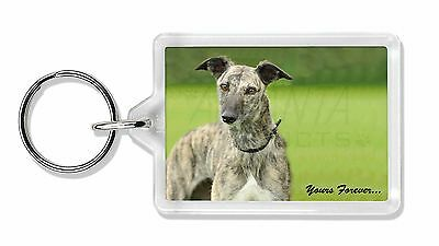 Greyhound Dog 'Yours Forever' Photo Keyring Animal Gift, AD-LU7yK