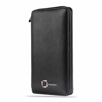Genuine Inventcase Leather Rfid Passport Id Card Wallet Holder Organiser Case