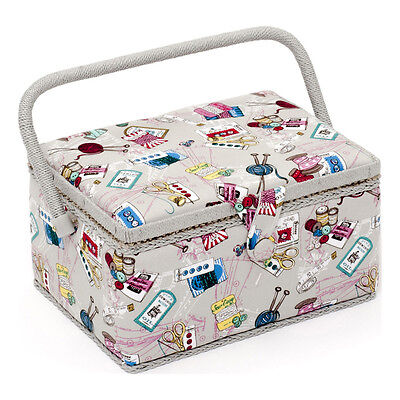 NEW | HobbyGift MRM/120 | Medium Sewing Basket Groves Notions | FREE SHIPPING