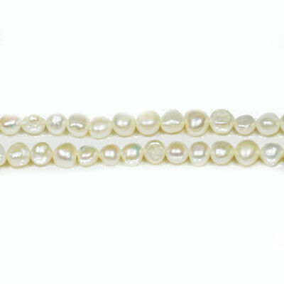 Strand Of 80+ Pale Cream Freshwater Pearl 2-4mm Baroque Potato Beads FP1679-1