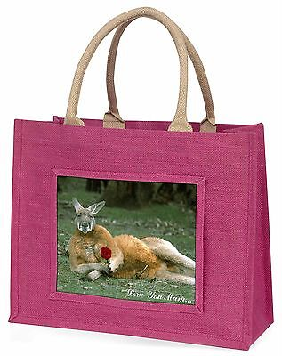 Kangaroo+Rose 'Love You Mum' Large Pink Shopping Bag Christmas Pres, AK-1RlymBLP