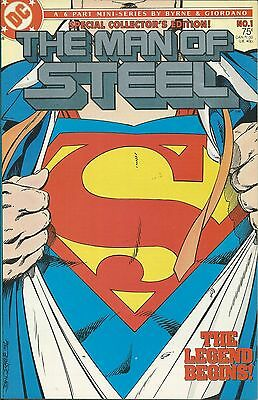 Superman Comic Issue 1 Man Of Steel Copper Age First Print John Byrne Giordano