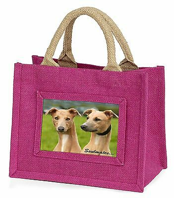 Whippet Dogs 'Soulmates' Sentiment Little Girls Small Pink Shopping , SOUL-64BMP