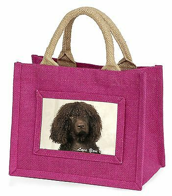 Irish Water Spaniel 'Love You Dad' Little Girls Small Pink Shopping B, DAD-59BMP