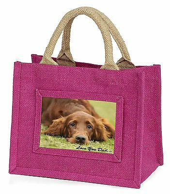 Red Setter Dpg 'Love You Dad' Little Girls Small Pink Shopping Bag Ch, DAD-93BMP