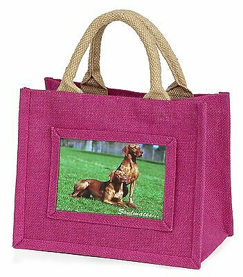 Hungarian Visla Dogs 'Soulmates' Little Girls Small Pink Shopping Ba, SOUL-61BMP