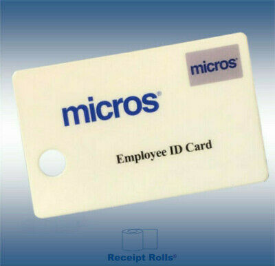 Package of 25 Genuine Micros Magnetic Stripe Employee ID Swipe Cards