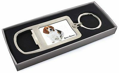 """Beagle Dog """"Yours Forever..."""" Chrome Metal Bottle Opener Keyring in, AD-BEA4yMBO"""