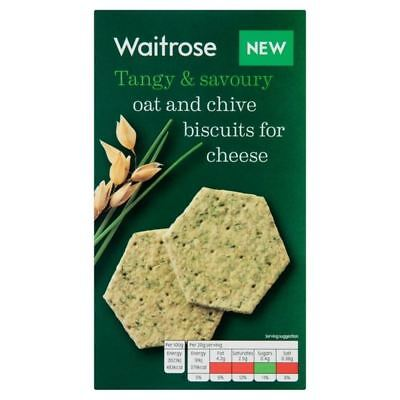 Oat & Chive Biscuits For Cheese Waitrose 150g