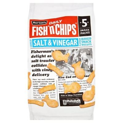 Burton's Fish & Chips Salt & Vinegar 25g x 5 per pack