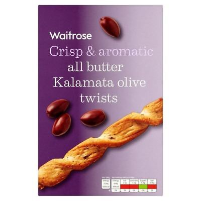 Black Olive & Basil Twists Waitrose 125g