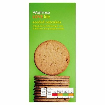 Seeded Oatcakes Waitrose Love Life 250g