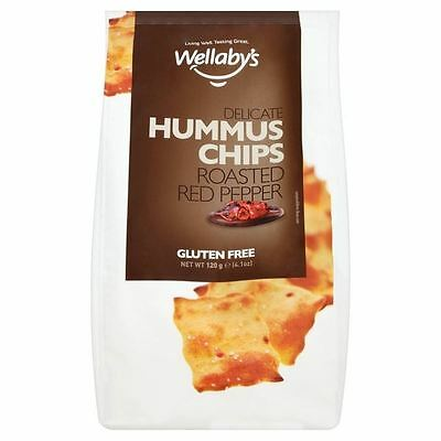 Wellaby's Gluten Free Roasted Red Peppers Hummus Chips 120g