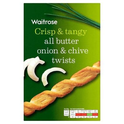 Onion & Chive Savoury Twists Waitrose 125g